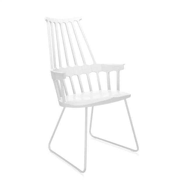 silla Comback Trineo Kartell blanca