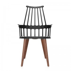 silla comback 4 patas roble/negra Kartell