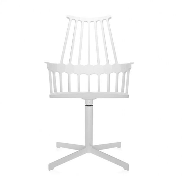 silla comback giratoria blanca Kartell