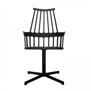 silla comback giratoria negra Kartell
