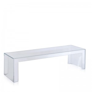 mesa auxiliar Invisible Side Kartell cristal altura 31,5