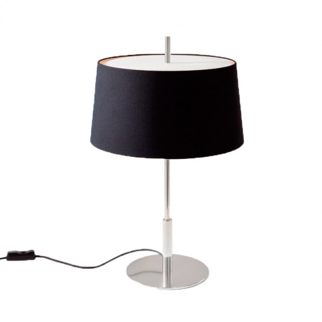 comprar lámpara de mesa Diana negro Santa&Cole