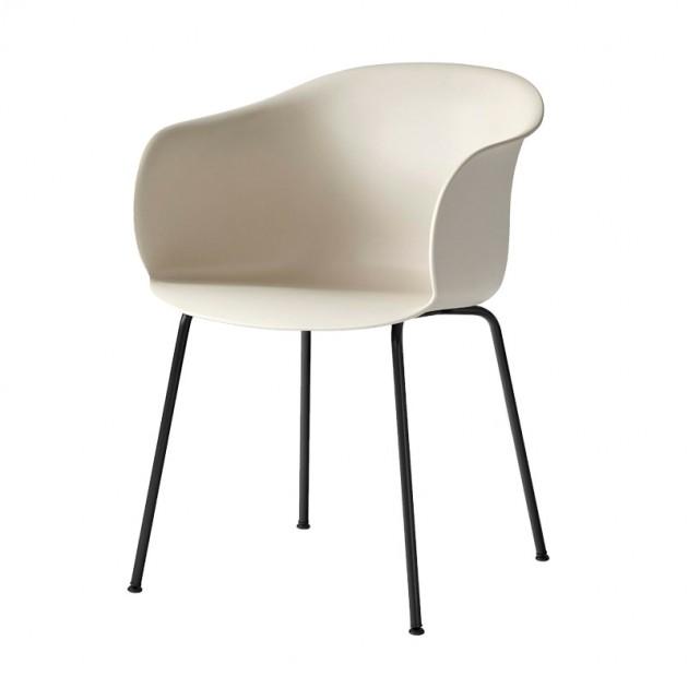 silla Elefy JH28 AndTradition asiento beige pata negra