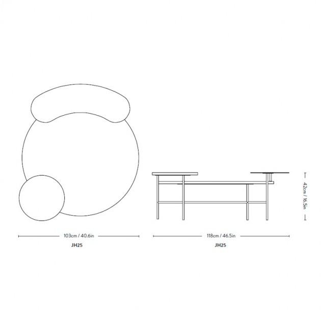 dimensiones Palette JH25 AndTradition