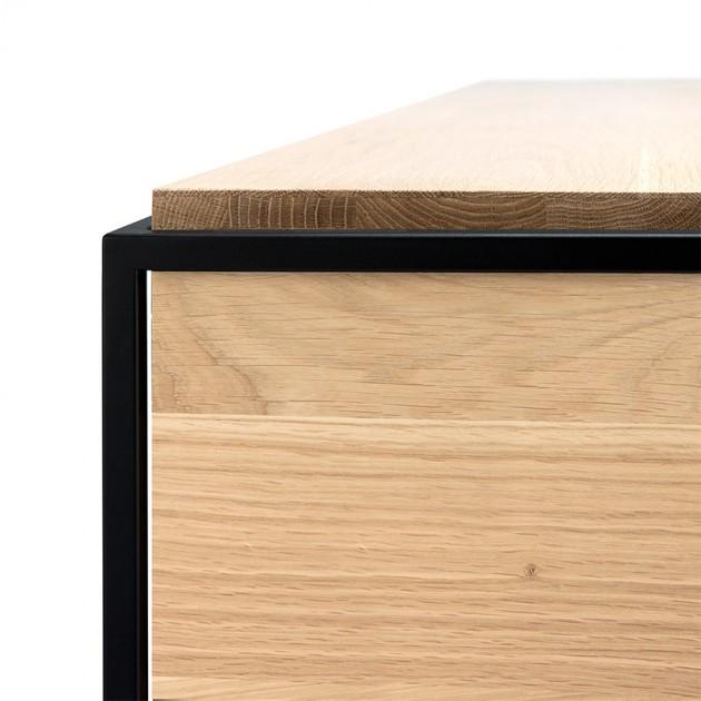 detalle estructura mueble de televisión Monolit Ethnicraft