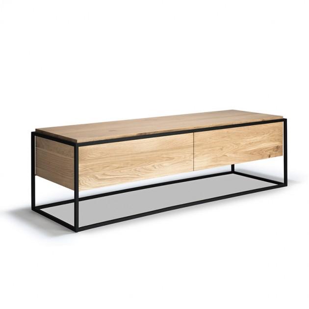 mueble TV Monolit roble estructura negra Ethnicraft