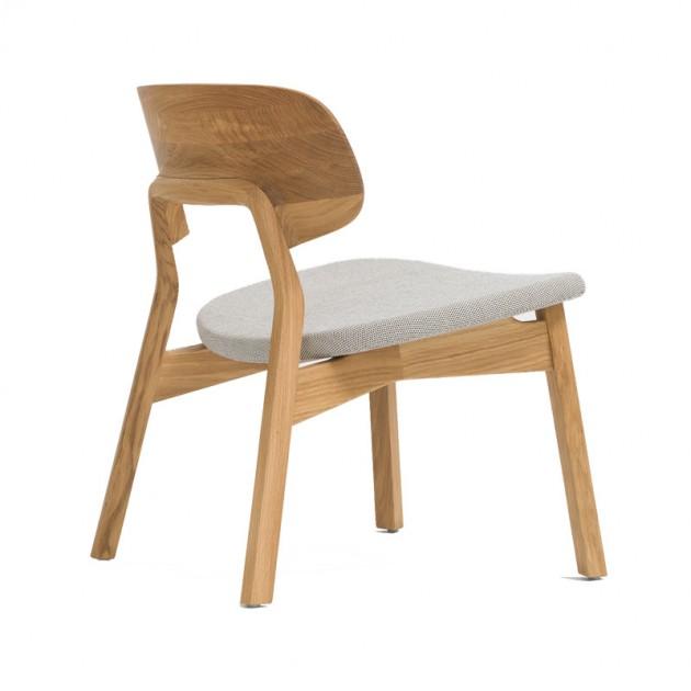 butaca Nonoto Lounge roble Zeitraum asiento tapizado
