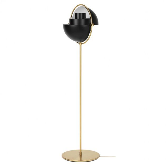 Lámpara de pie Multi Lite Brass Base Black en Moises Showroom