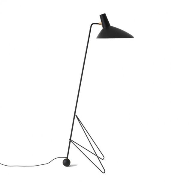 Lámpara de pie Tripod HM8 negra &tradition