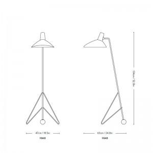 medidas Lámpara Tripod HM8 &tradition