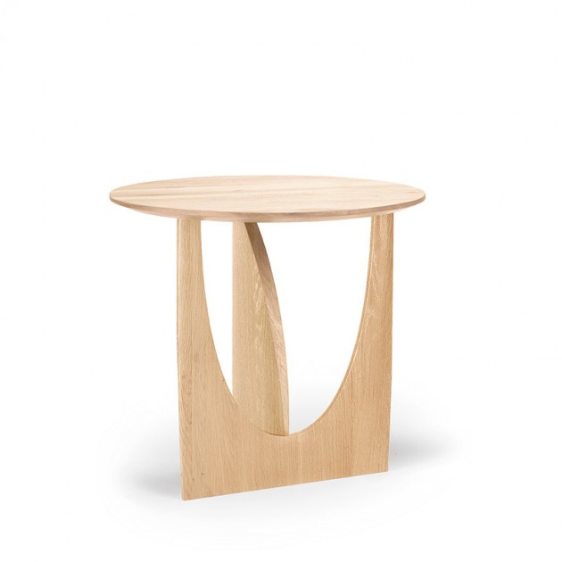 mesa Geometric auxiliar Roble Ethnicraft