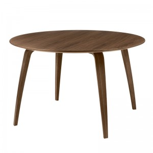 Mesa de comedor Gubi Dining table round 120 cm nogal en Moises Showroom