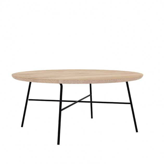 Oak Disc round coffee table Ethnicraft