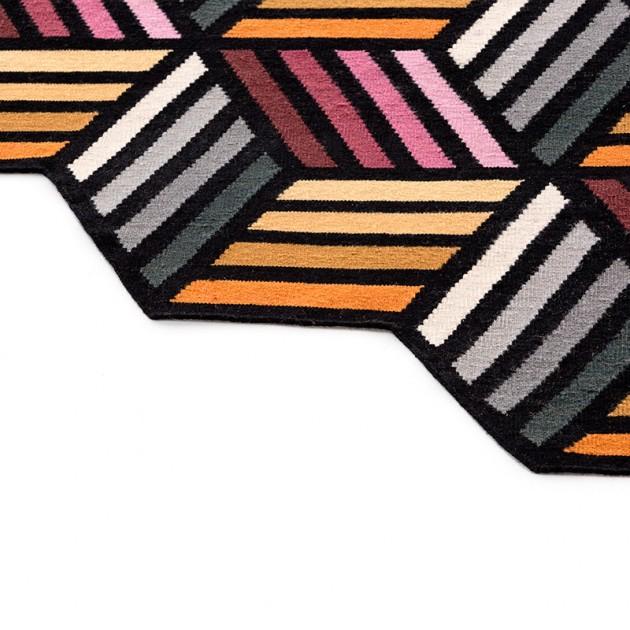 detalle Alfombra Kilim Parquet Hexagon Gan rugs