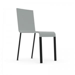 silla .03 no apilable gris pata revestida negro Vitra