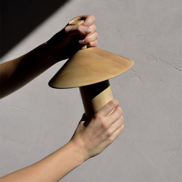 Lámpara Pepa batería Astep madera