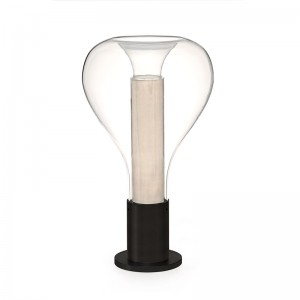 Lámpara sobremesa Eris white base negra LZF