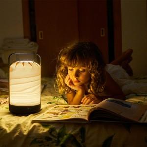 ambiente nocturno niña leyendo lámpara portátil Mini chou Luzifer
