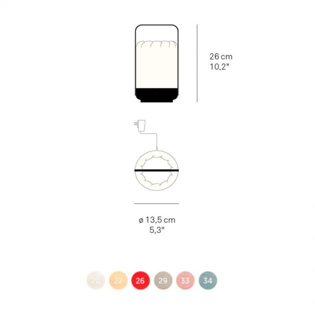 medidas y colores Lámpara portátil Mini chou Luzifer