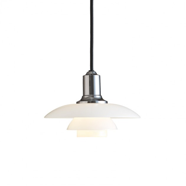 Lámpara PH 2/1 suspendida cromado Louis Poulsen