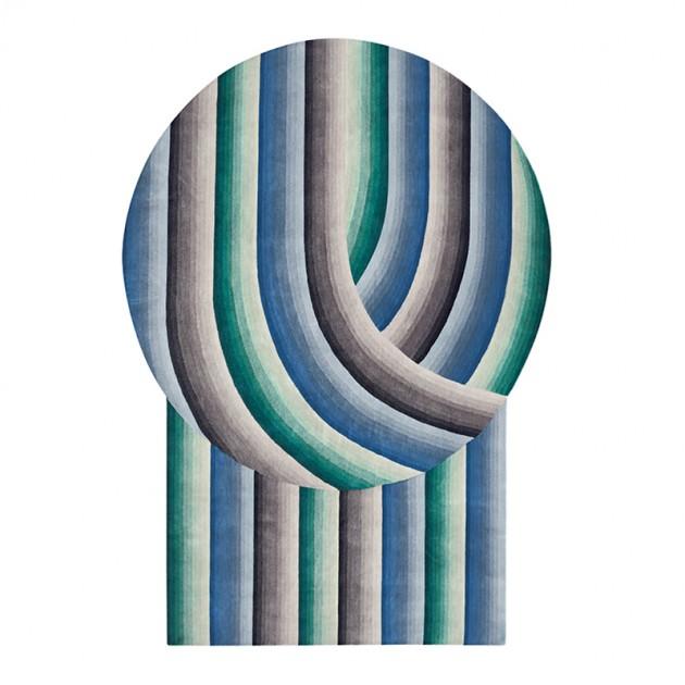 Alfombra Round Mirage Blue de Gan Rugs en Moises Showroom
