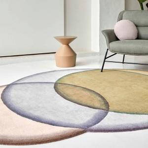 Detalle alfombra Crystal Neutral de Gan Rugs en Moises Showroom