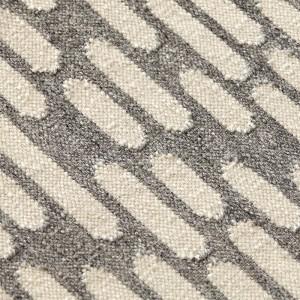 Detalle textura Kilim Thay Grey de Gan Rugs en Moises Showroom