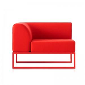 Sofá modular izquierdo Ploid Diabla urban fabric rojo
