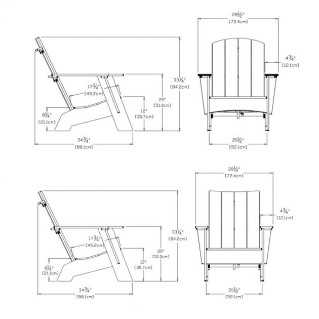 medidas Butaca Adirondack Loll Designs