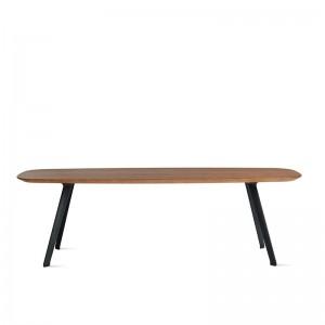mesa Solapa Stua altura 36 38 x 118 cm nogal