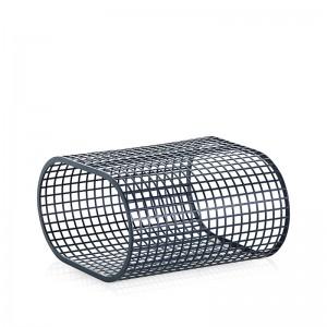 mesa baja Buit Gandía Blasco aluminio azul gris