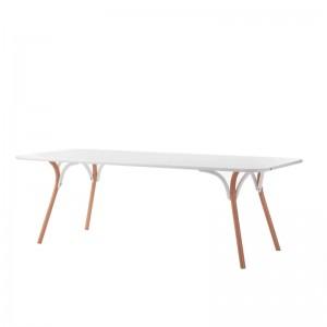 mesa comedor Arch blanco + haya GTV Thonet Vienna