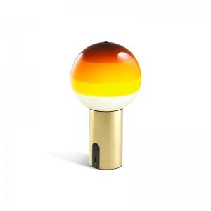 lámpara Dipping light portable ámbar base latón Marset