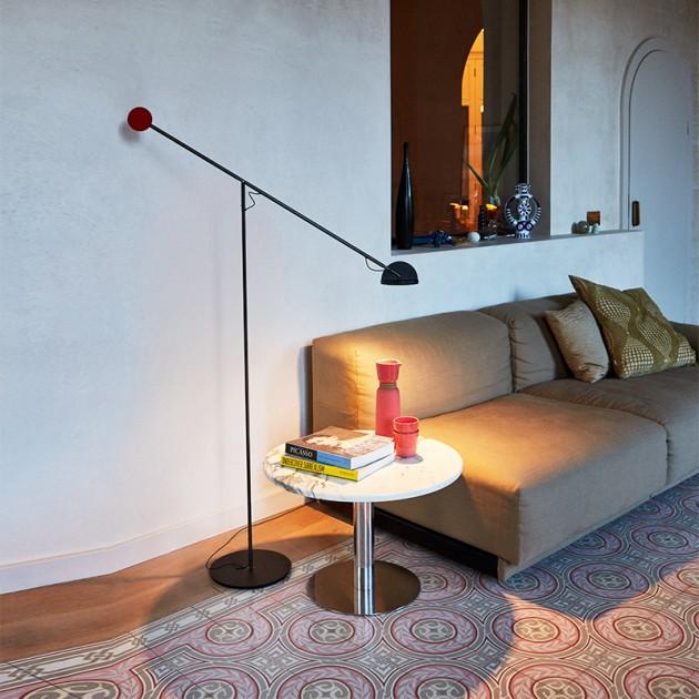 lámpara Copernica P grafito-rojo-negro Marset salón