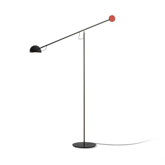 lámpara Copernica P grafito-rojo-negro Marset