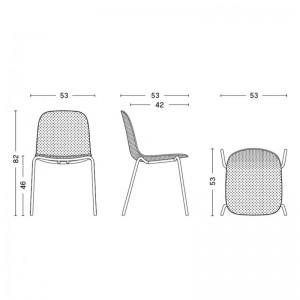 Silla 13Eighty chair HAY  medidas
