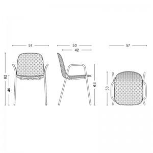 Silla 13Eighty armchair HAY medidas