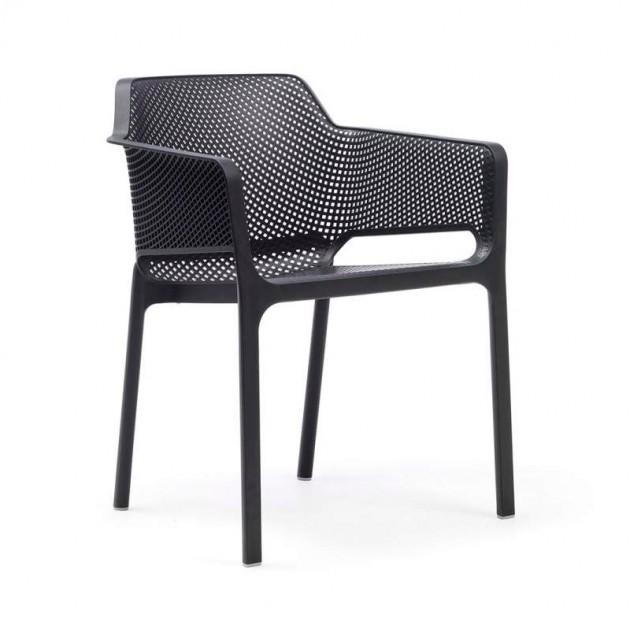 silla Net de exterior antracita Nardi