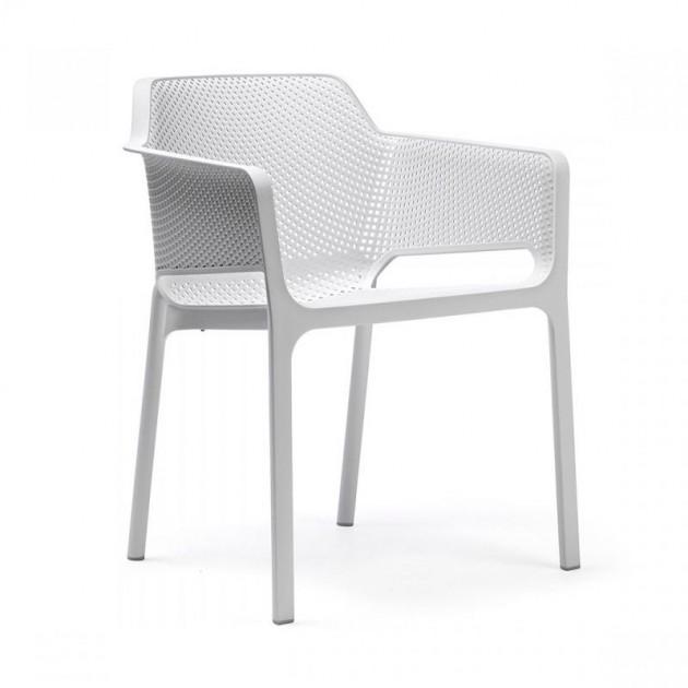 silla Net de exterior blanca Nardi