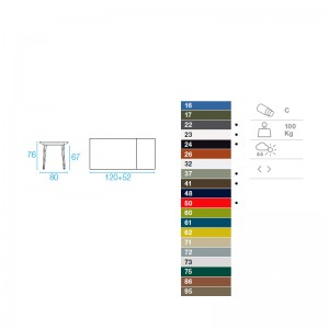 medidas y colores mesa Plus 4 Balcony Emu