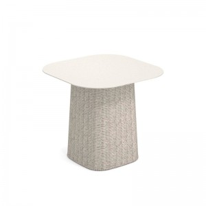 mesa baja Carousel cuadrada blanco Emu