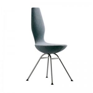 silla Date Variér tapizado textil pata cromada