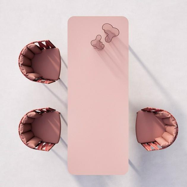 mesa comedor Anthea Indecasa rosa/rojo ambiente