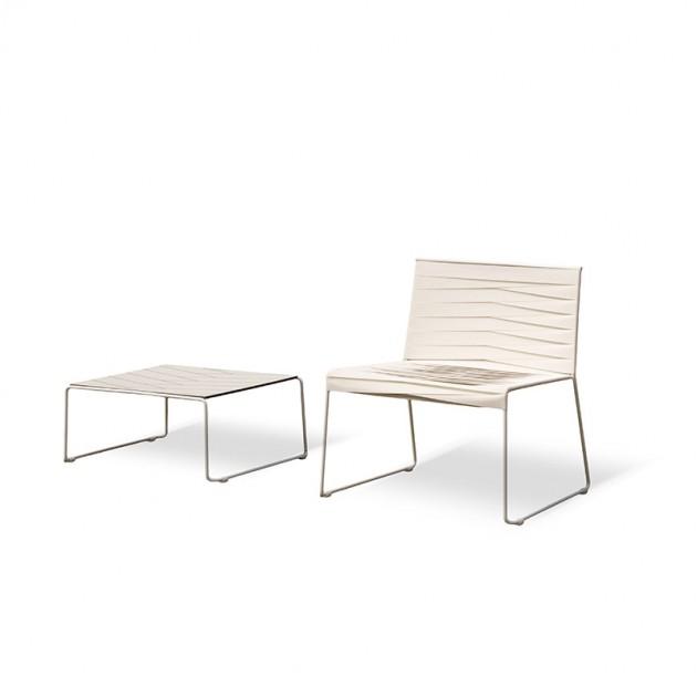 Indecasa silla lounge Espiga blanco