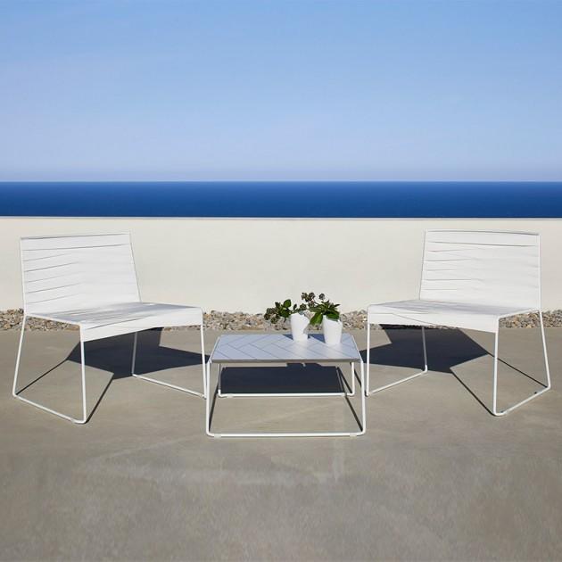 Indecasa sillas lounge Espiga blanco