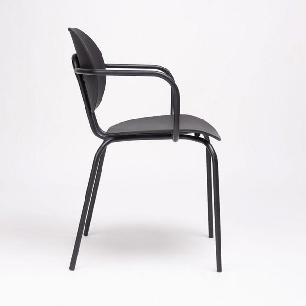 perfil silla Hari con brazos polipropileno Ondarreta