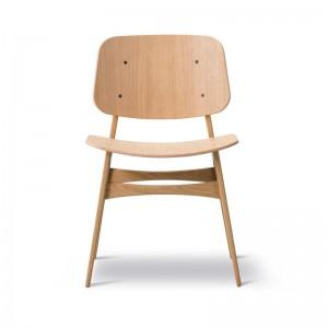 silla Soborg Fredericia roble lacado