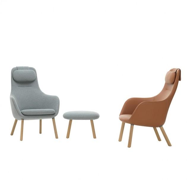 Vitra sillón Hal lounge chair textil o piel