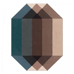 Kilim de exterior Diamond de Gan Rugs en color Blue-Brown