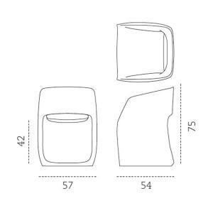 dimensiones Butaca OM basic Mobles 114